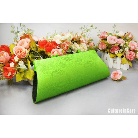 Green Rose Hand Embroidery Handbag