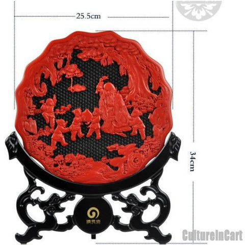 Exquisite Celebrate for Healths Carved Lacquer Plate