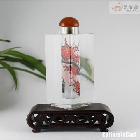 Exquisite Plum Blossom Chinese Painting Diamond Snuff Bottle