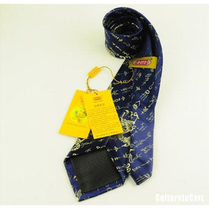 Blue Dragon and Characters Brocade Tie - cultureincart.com