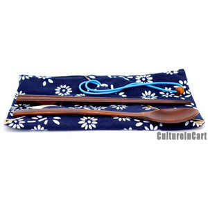 Blue Calico Environment-protecting Wooden Tableware Suite - cultureincart.com