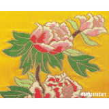 Peony Brocade Folded Screen - cultureincart.com