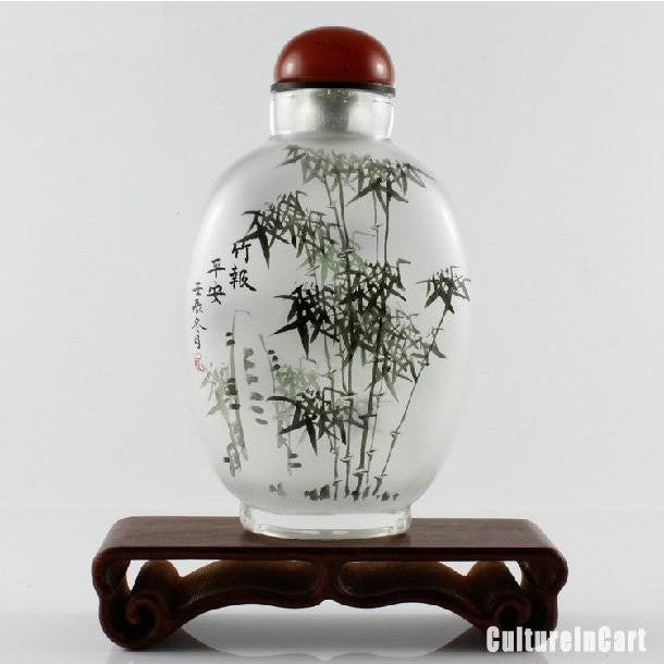 Bamboo Chinese Painting Snuff Bottle - cultureincart.com