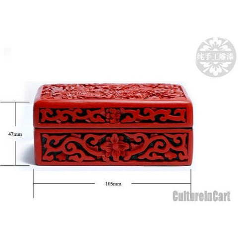 Handmade Dragon Carved Lacquer Cardcase