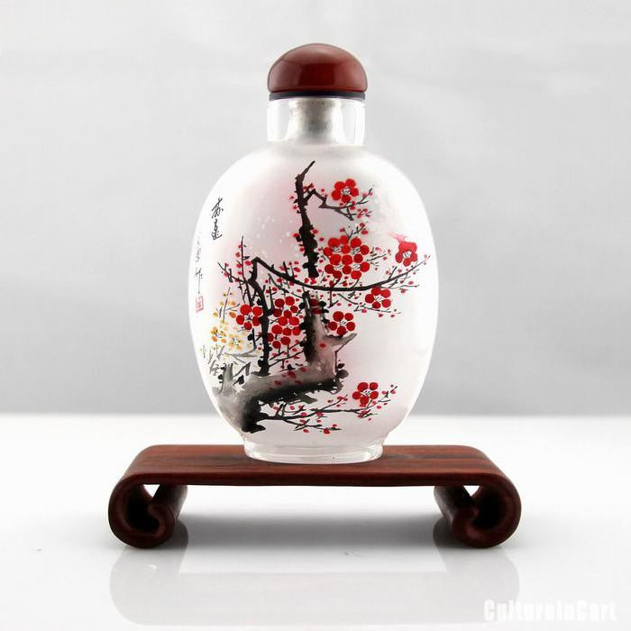 Plum Inner Painting Snuff Bottle