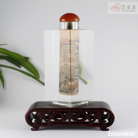 Along the River During the Qingming Festival Diamond Snuff Bottle