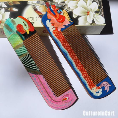ChangZhou Comb Dragon and Phoenix Gift Set
