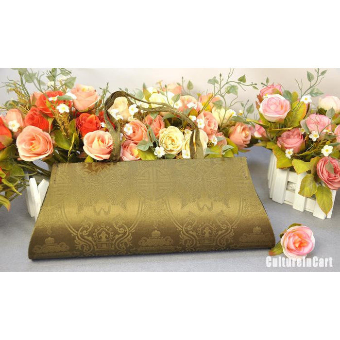 Golden Chrysanthemum Hand Embroidery Handbag - cultureincart.com