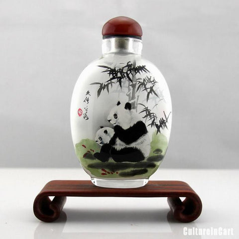 Panda Inner Painting Snuff Bottle