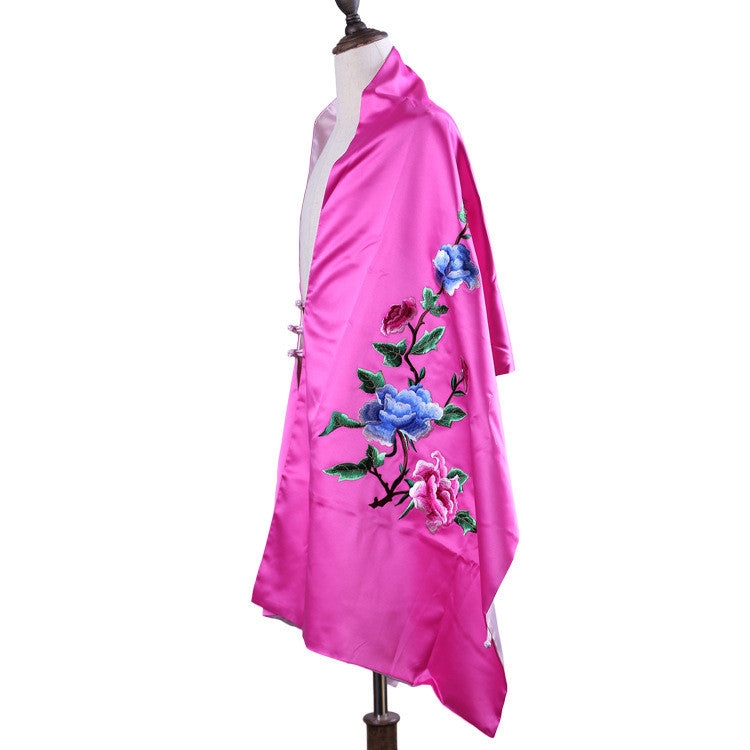 VinSu Embroiderye handmade Su embroidery natural silk scarves