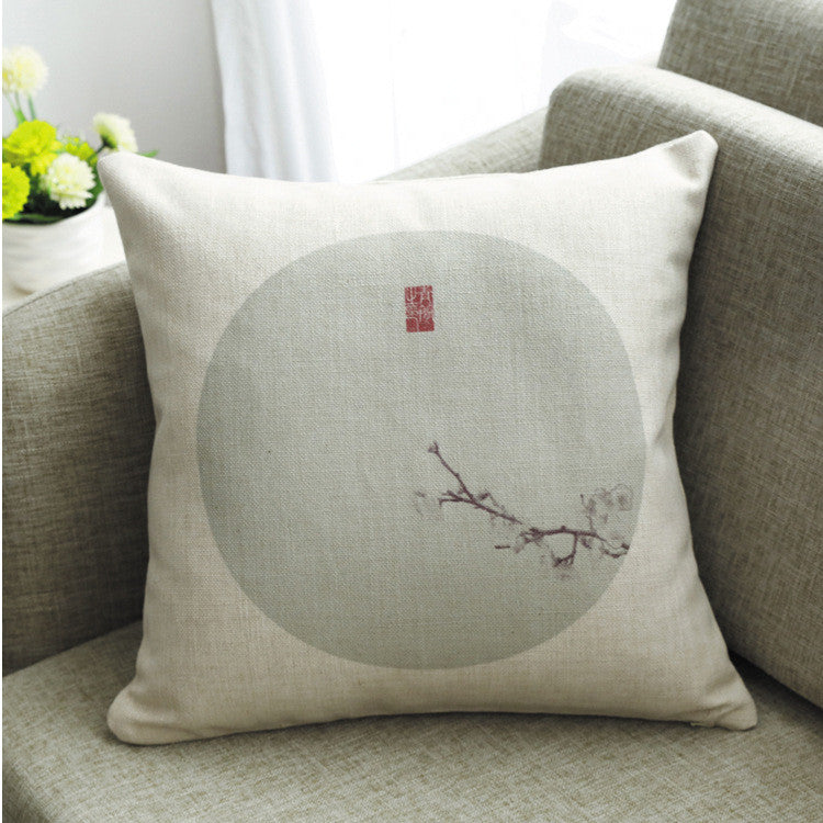 Vintage classical linen fabric back cushion