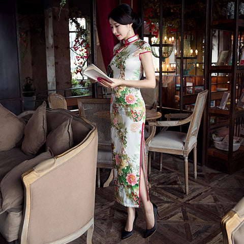 High quality eight buttons elegant cheongsam