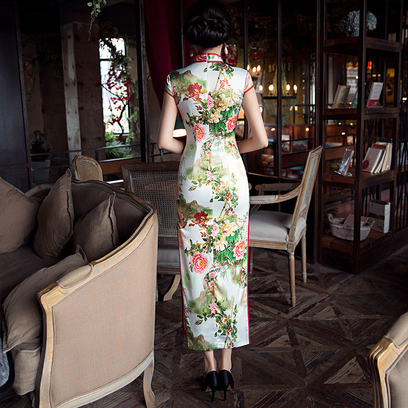High quality eight buttons elegant cheongsam - cultureincart.com