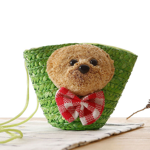 Cute small bear dual used mini cuim bag
