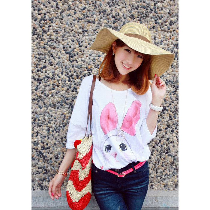 Cute woven sling multicolored bag decorated with knitting wool ball