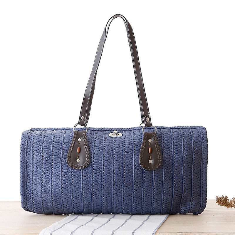 Multicolored sling hand woven long pattern bag