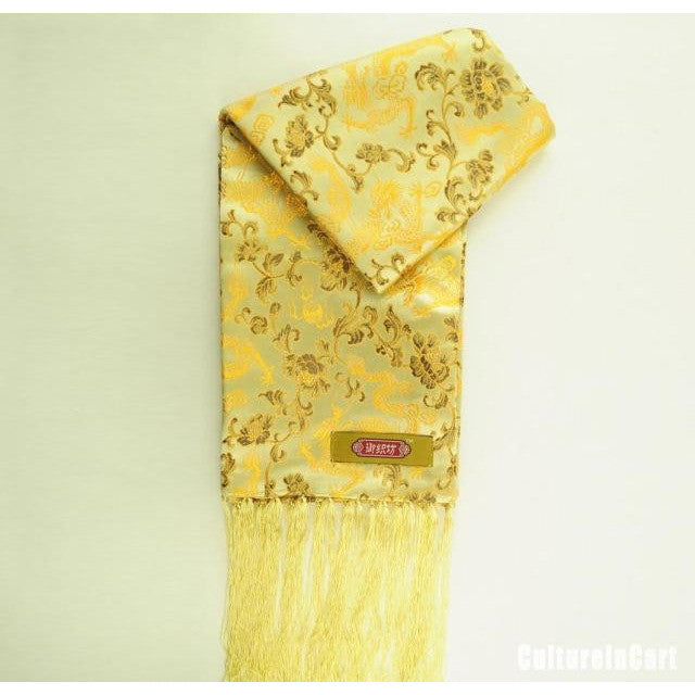 Embroidered Brocade Scarf - cultureincart.com