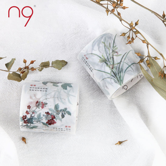 Chinese ancient flowers washi tape - cultureincart.com