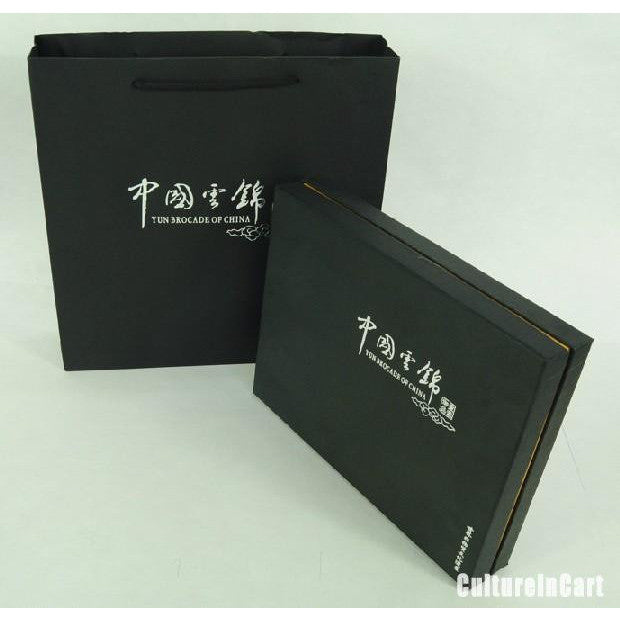 Black Chinese Characters Brocade NoteBook