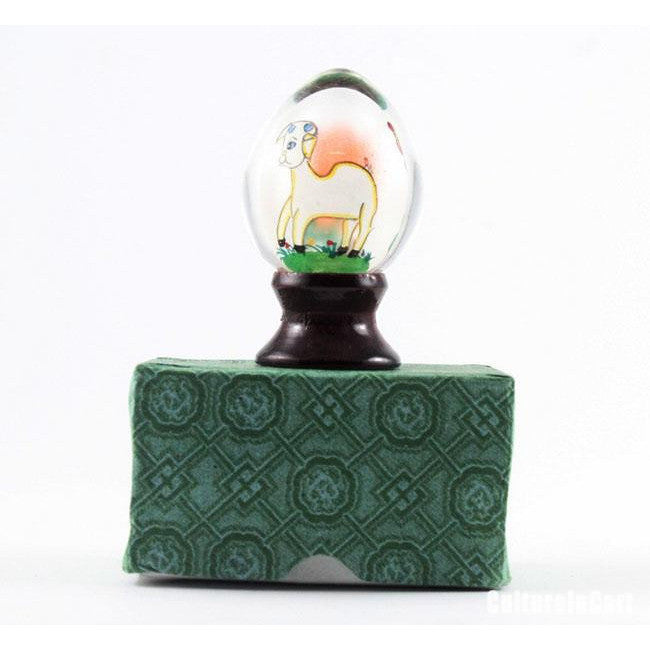 Samll Chinese Zodiac Goat Snuff Bottle