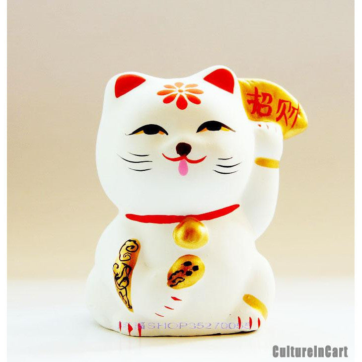 Fortune Cat Clay Figurine - cultureincart.com
