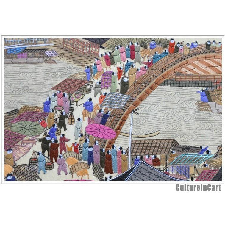 "Hand Embroidery ""Along the River During the Qingming Festival"" Scroll"