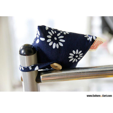 Blue Calico Square Lotus Little Sachet