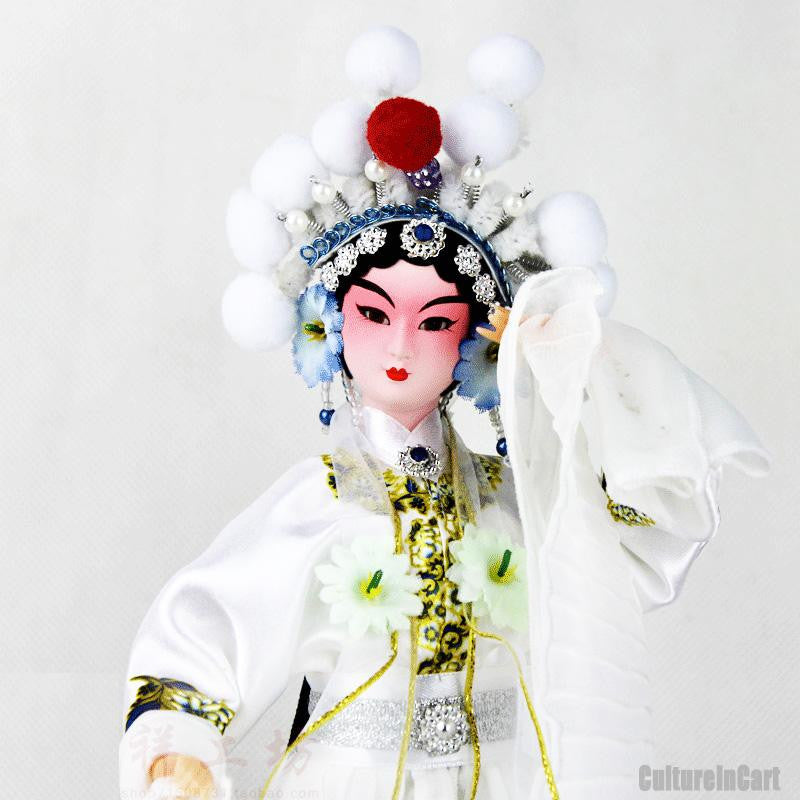 White Snake Silk Figure - White Lady