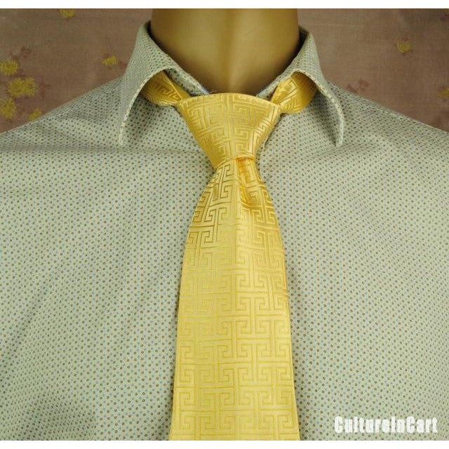 Golden GreatWall Brocade Tie