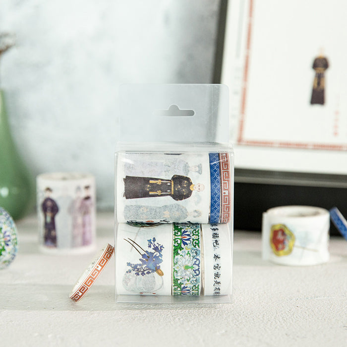 Chinese Qing Dynasty court style washi tape set - cultureincart.com