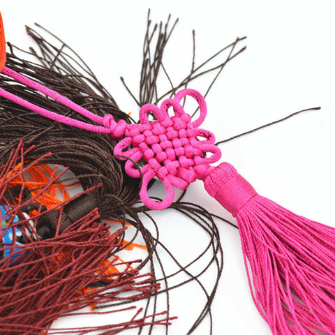 Triditional Weaving Beijing Opera Mask Chinese Knot Pendant