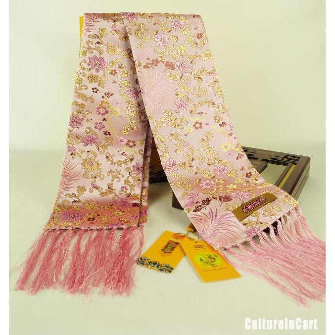 Small Floral Brocade Scarf