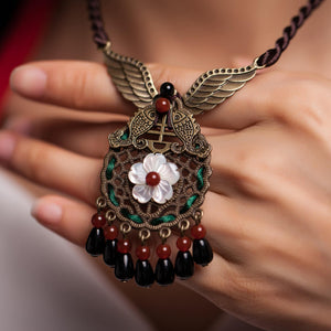 Handmade exquisite shell retro short tassel clavicle necklace - cultureincart.com