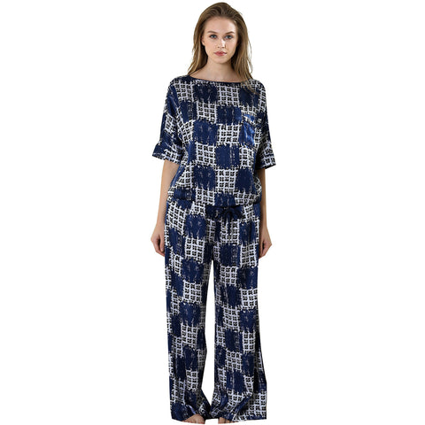 Blue Moon loungewear set 19 Momme 100% silk Charmeuse