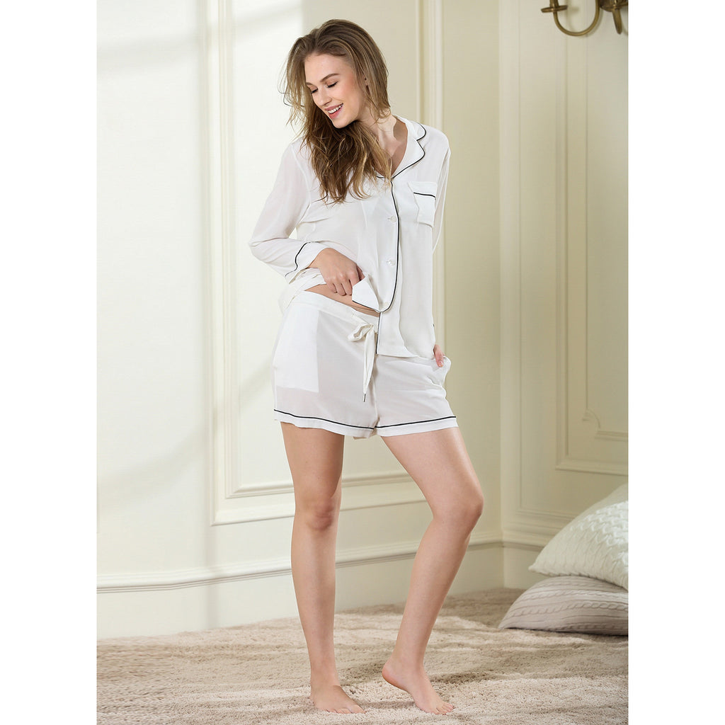 Potpourri short pajama set 14 momme 100% silk