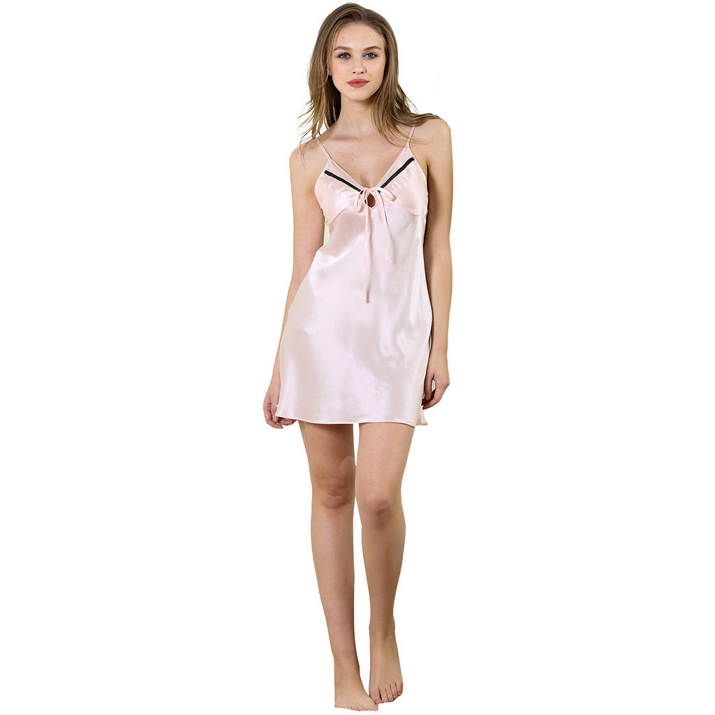 Simple Life cute mini slip Gown 19 Momme 100% silk satin