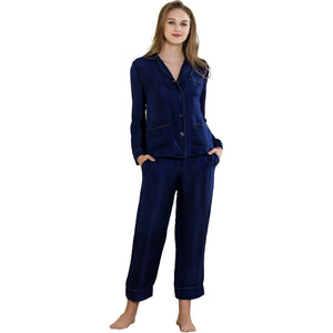 Daily Joy crop bottom pajama set 19 momme 100% silk - cultureincart.com