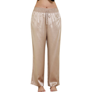 Easy fitting Nightwear Pant 19 momme satin pure silk - cultureincart.com