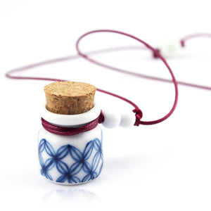 Bargain price exquisite blue and white porcelain bottle-shape pendant ceramic necklace - cultureincart.com