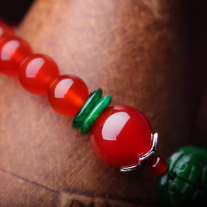 Fashionable original natural red agate bracelet - cultureincart.com