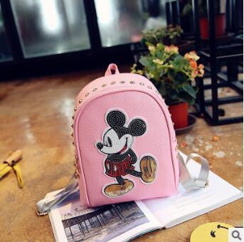 Mickey Leather Sequin Backpack