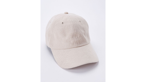 Blush Faux Suede Dad Hat
