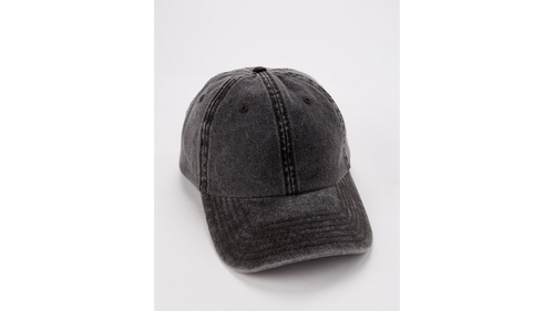 Black Pigment Dyed Dad Hat