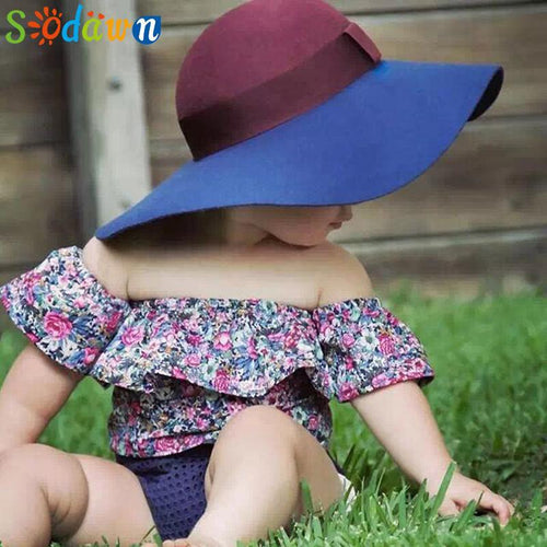 Sodawn New Style 2017 Summer Small Broken Flower Baby Girls Clothes