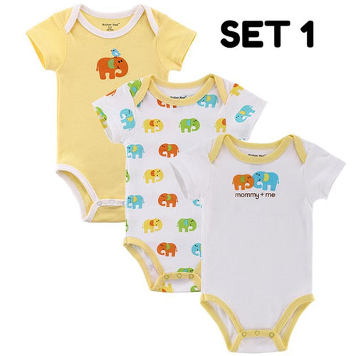 3 Pcs. Short Sleeve Overall Baby Clothing