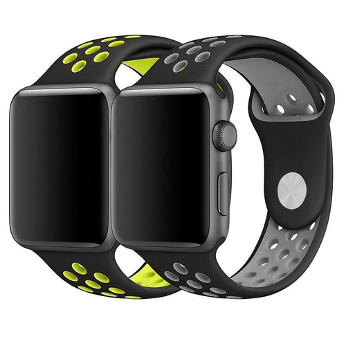 Apple Watch Band 42mm, Breathable Soft Silicone Replacement Band for 42MM Apple Watch Series 2 Series 1 - Large (2-Pack)
