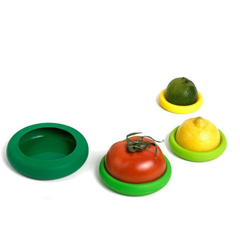 4 Piece Set Reusable Silicone Food Huggers