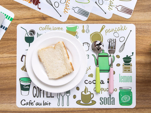 Easy Clean Up & Eco-Friendly PVC Placemats