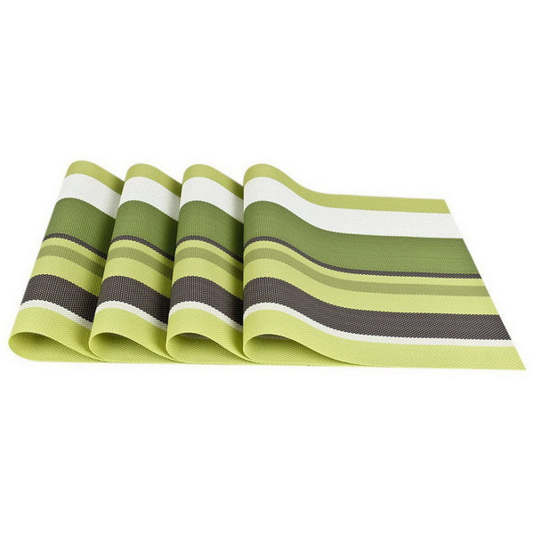 4 PCS - PVC Placemat Set Green