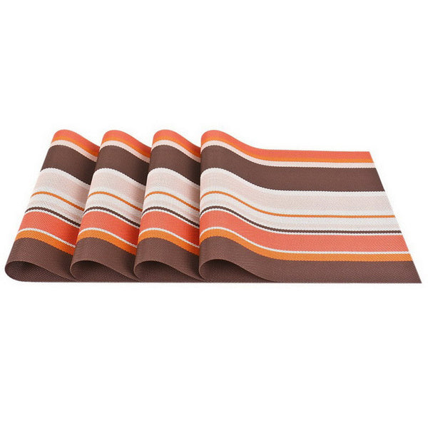 4 PCS - PVC Placemat Set Orange